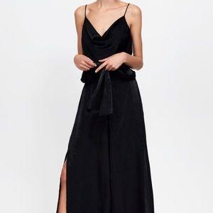 Zara Draped Jumpsuit with neckline